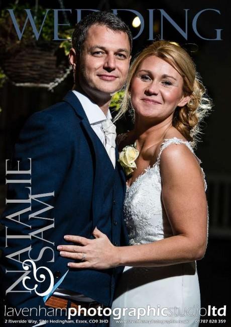 Magazine style cover for Swan Hotel Lavenham Wedding