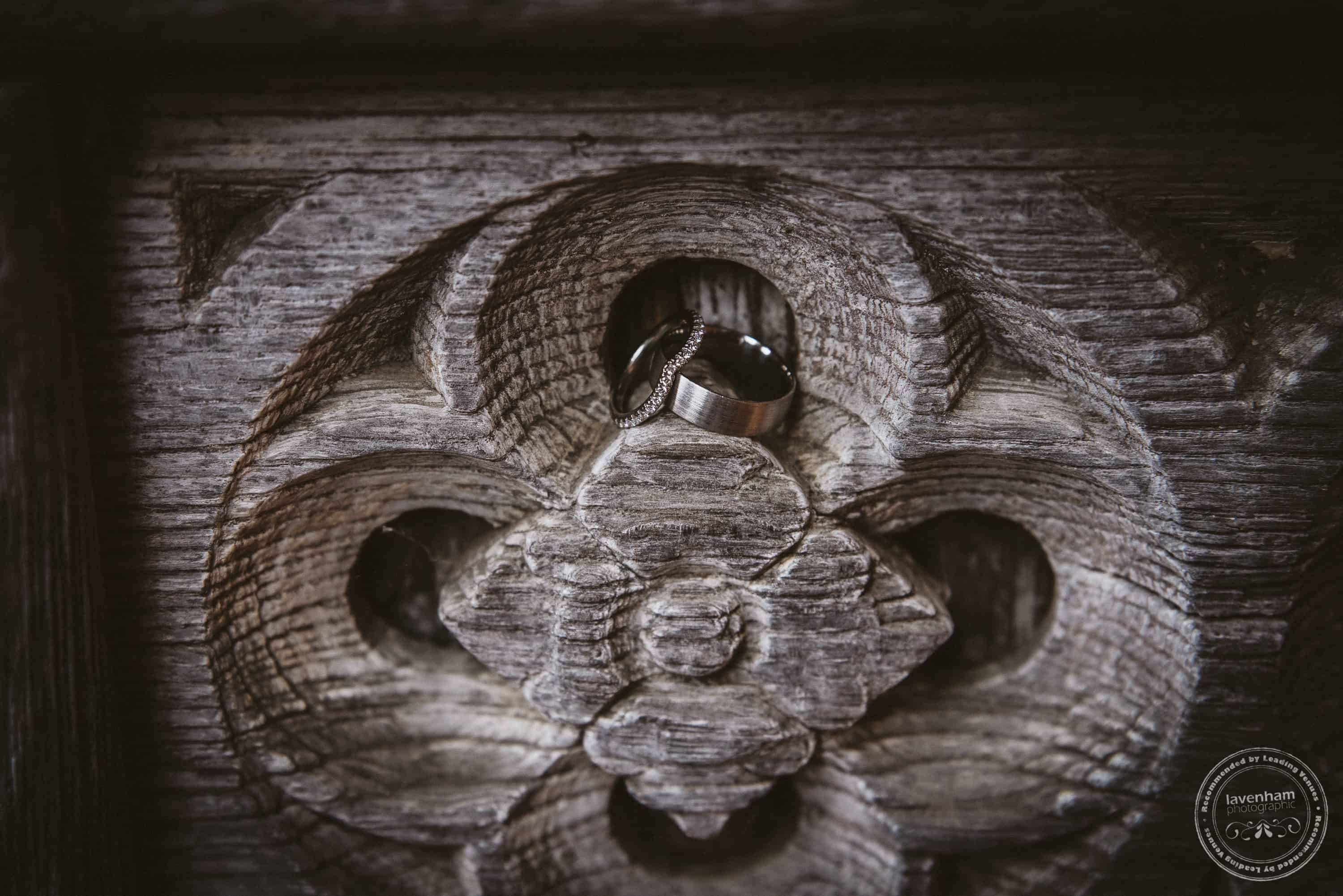 One of the ancient carvings in a doorway at leez Priory is such a nice spot to nestle the wedding rings for a detail photograph!