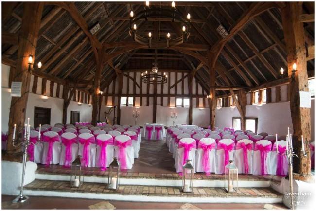 Smeetham hall set up for wedding ceremony