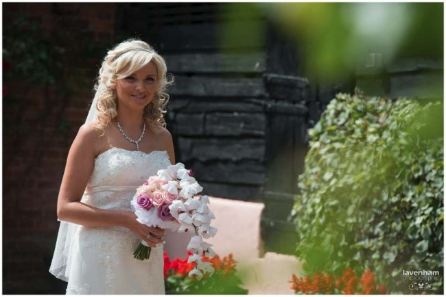 Bride photographed before wedding