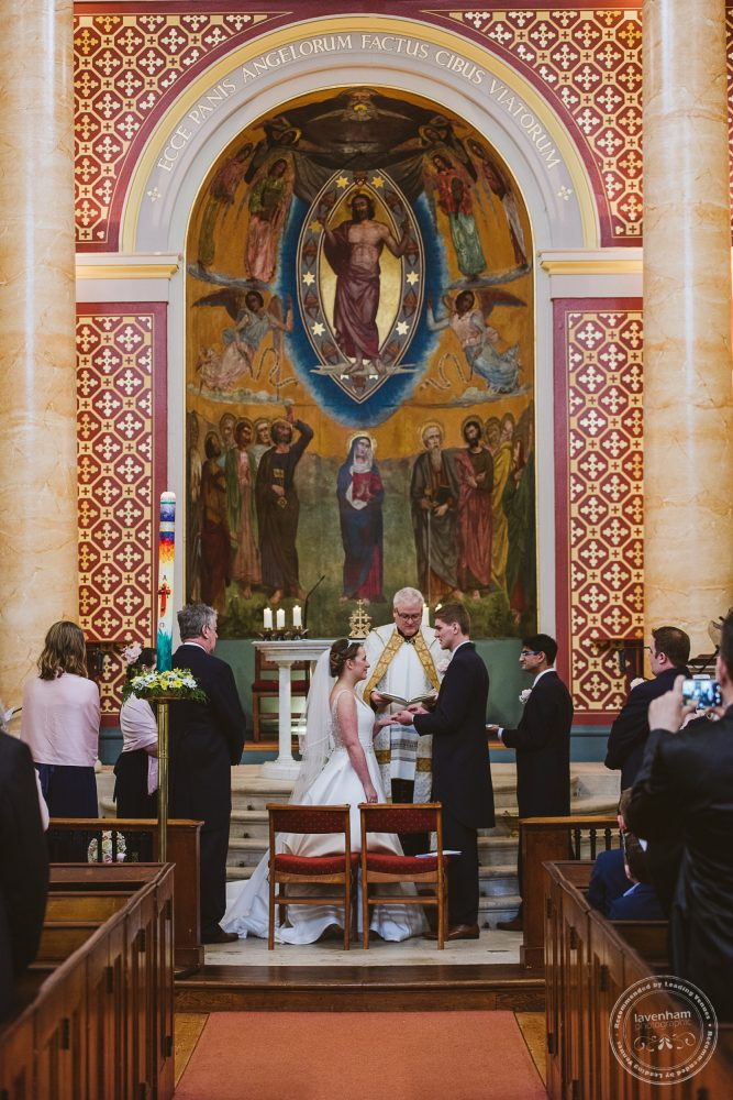 Wedding ceremony in the catholic church at Bury St Edmunds