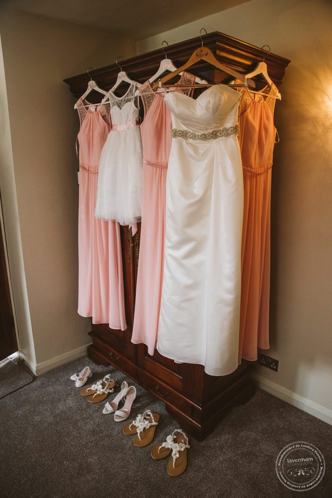 The Second Bride's wedding dress, with bridesmaids dresses