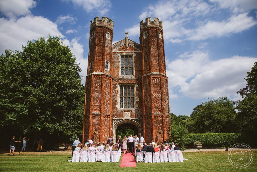 Photography of Leez Priory wedding outdoor ceremony