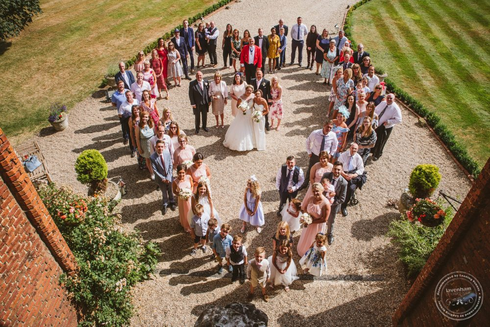 Heart-Shaped Overhead group photo