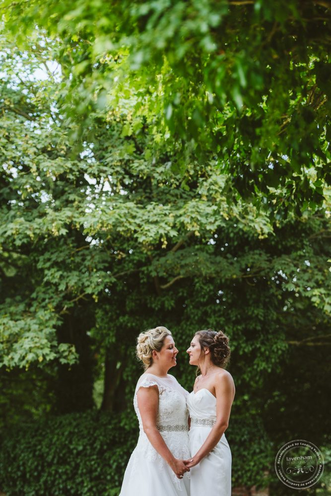Bride and Bride in the grounds at Leez Priory