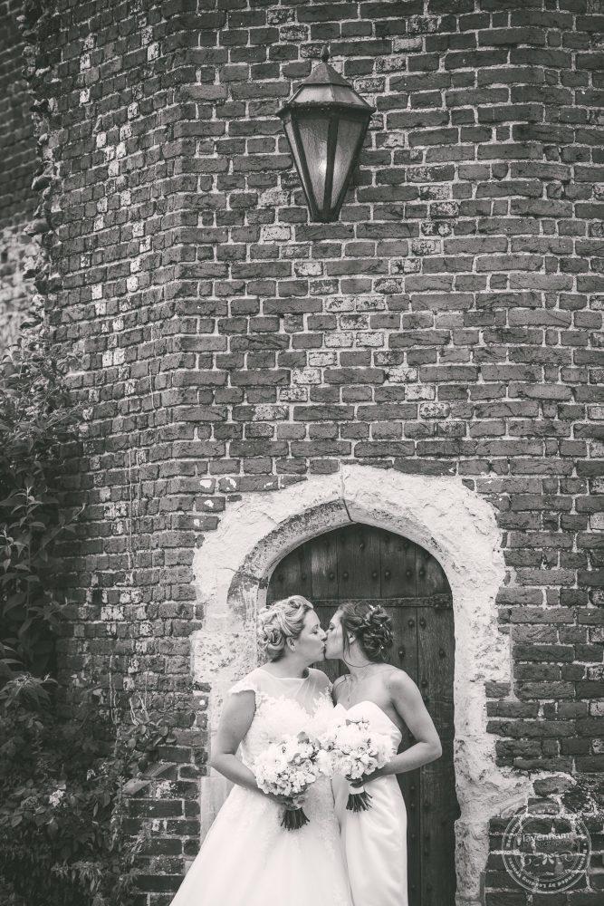Black and white wedding photography at Same Sex Leez Priory Wedding