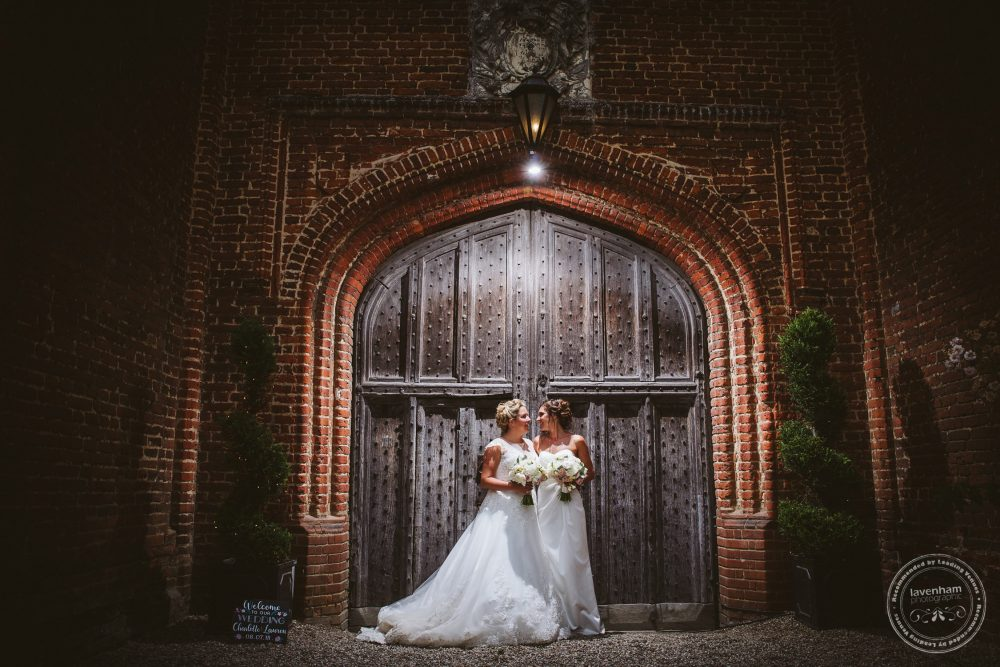 My favourite 'trademark' Leez Priory wedding photograph! Set up with remote lighting, and taken in full daylight! It really brings out the texture of the wood and brick