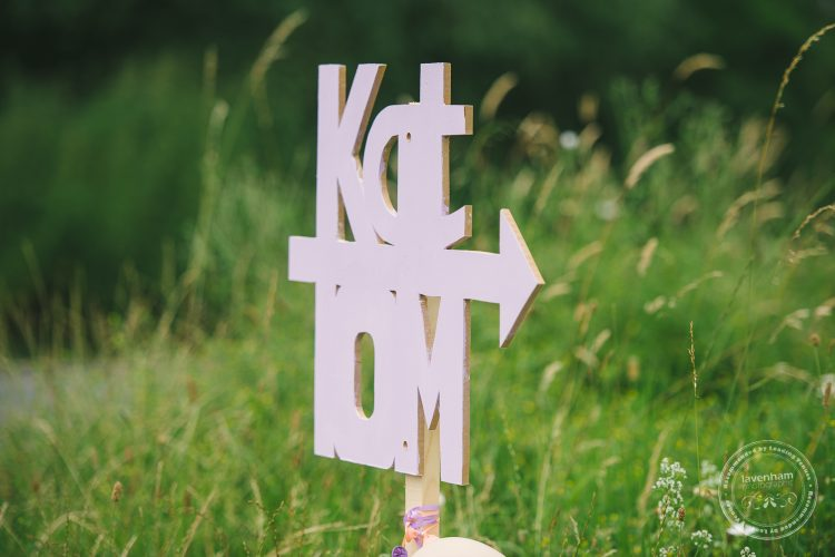Home made DIY wedding directions sign