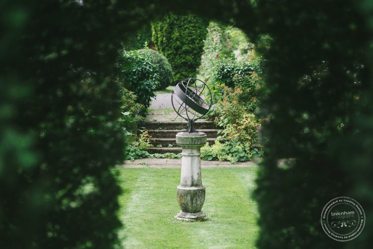 Sun dial in the gardens at Preston Priory Barn