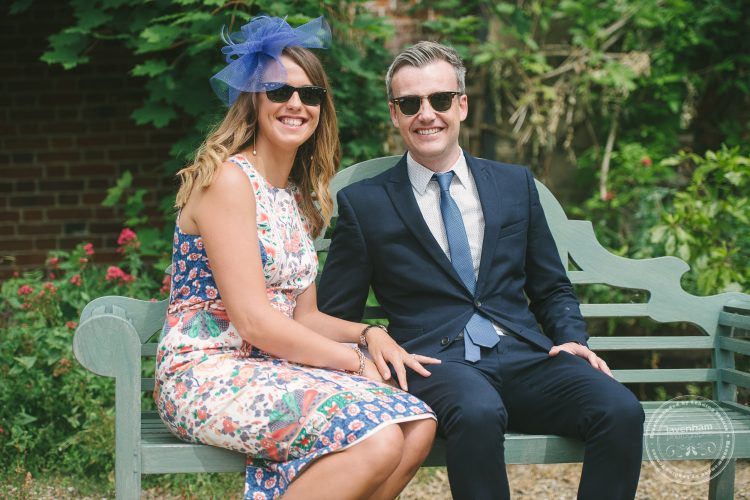Photography of a couple, wedding gests at Preston Priory Barn wedding