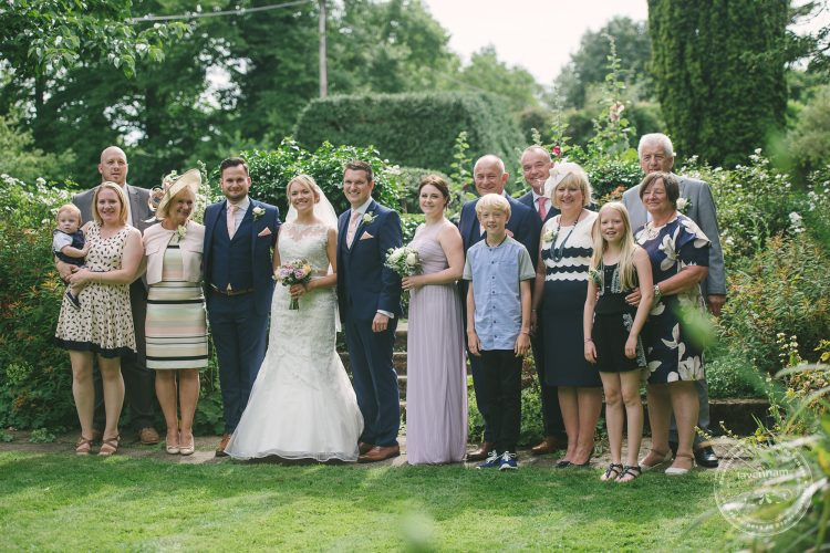Large family group in the garden at Preston Priory Barn