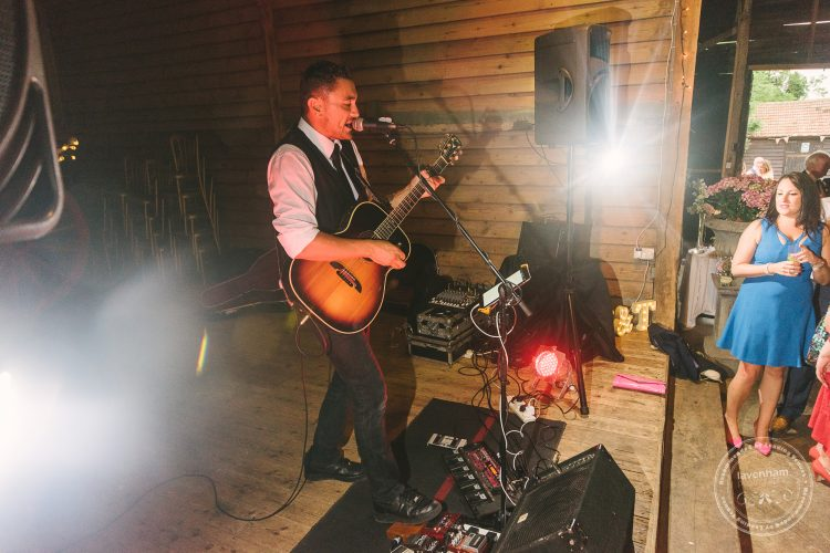 Jayson Norris playing at a wedding