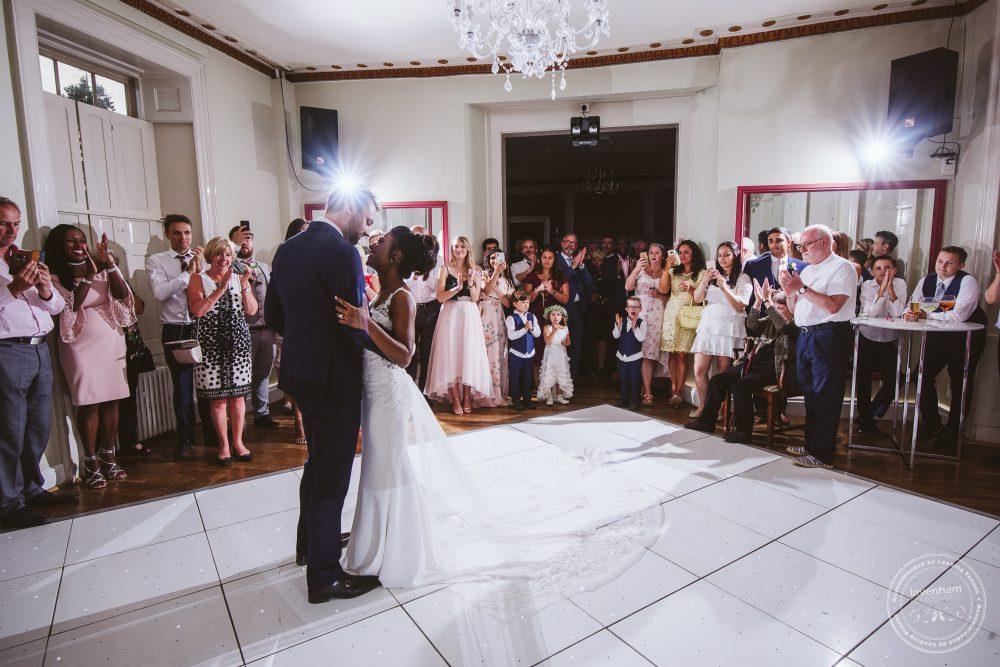 Photography during the first dance at a Gosfield Hall Wedding
