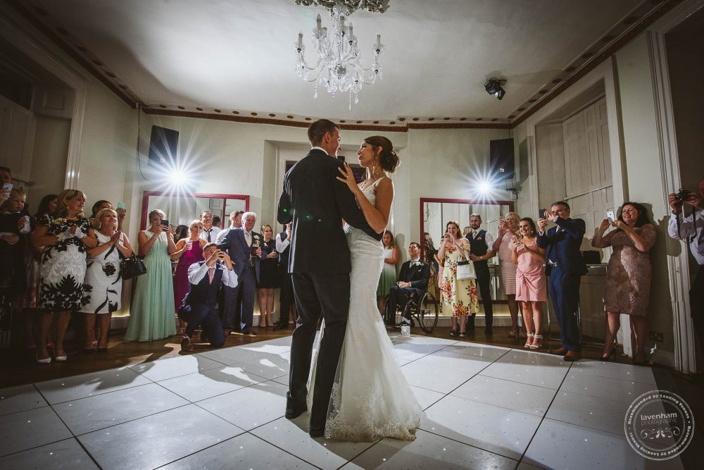 Photography of the first dance at Gosfield Hall Wedding