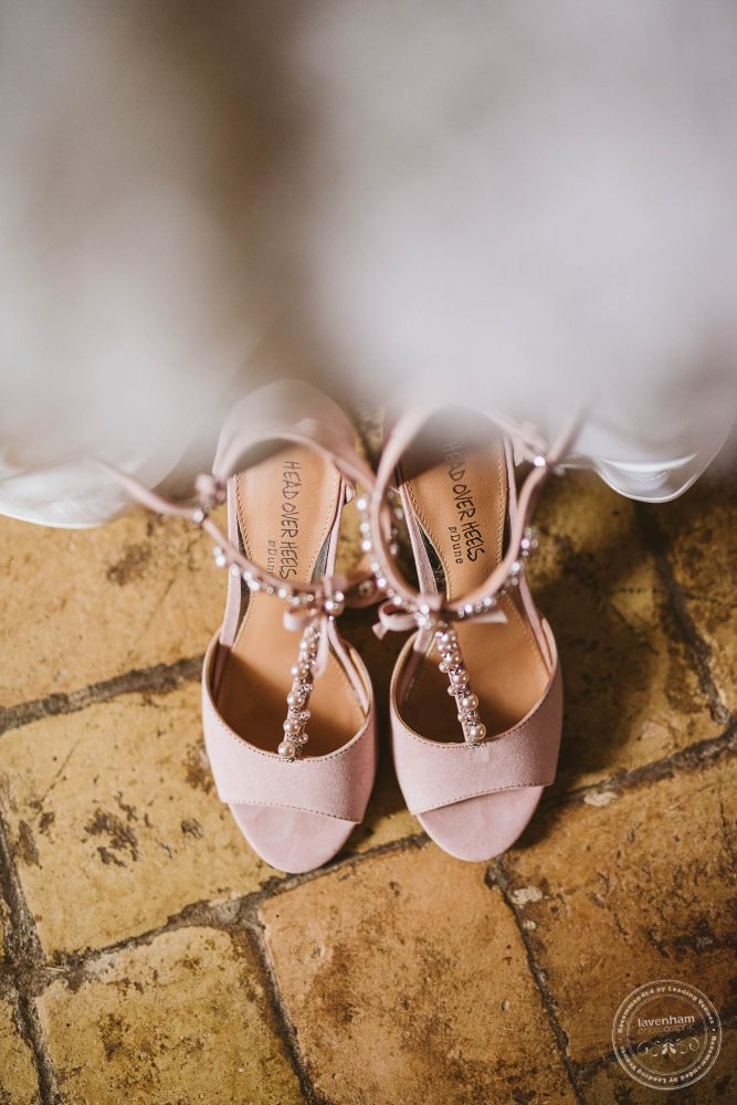 Detail photograph of wedding shoes