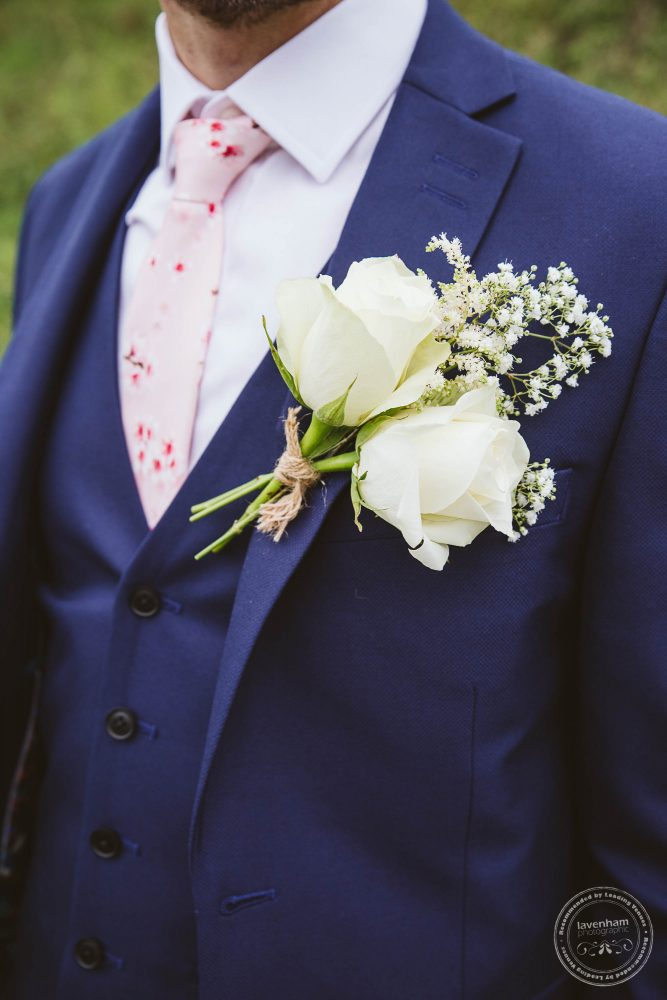 Photography of the groom's flower and tie for his wedding attire