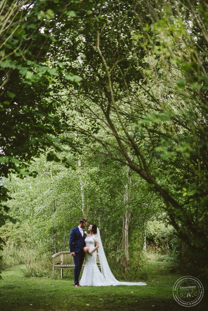 Lisa and Bryn photographed in the grounds at Alpheton Hall Barn