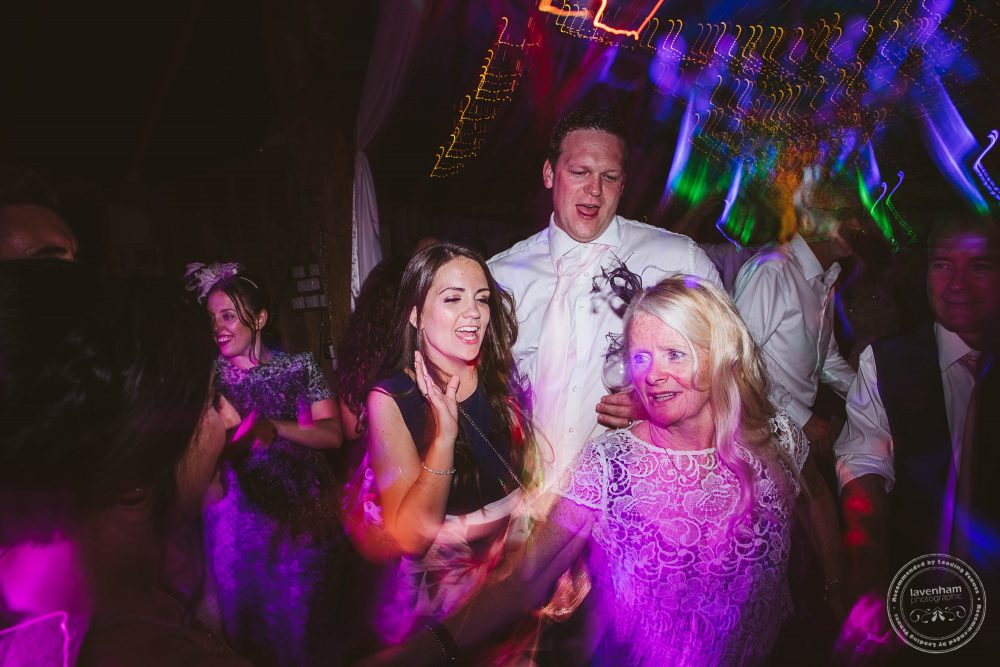 Wedding guests dance the night away
