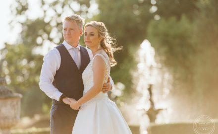 Evening sun at Summer Wedding at Gosfield Hall