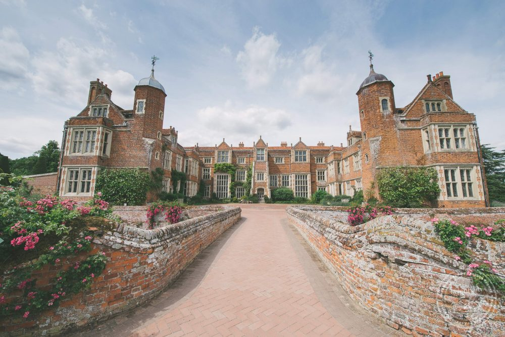 Kentwell Hall in the morning of a wedding