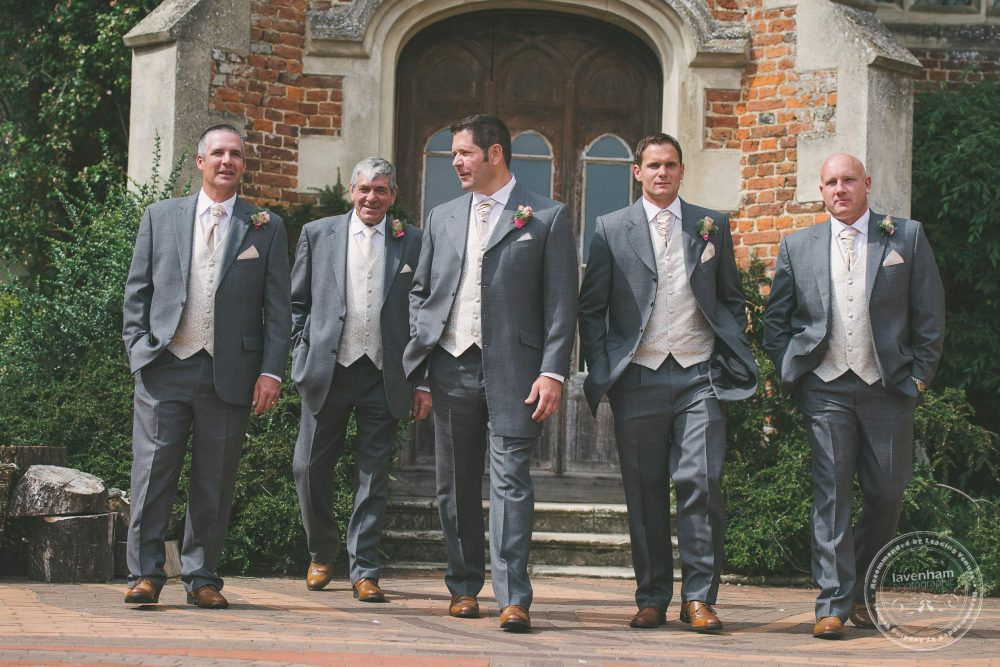 The groom with groomsmen photographed before the wedding