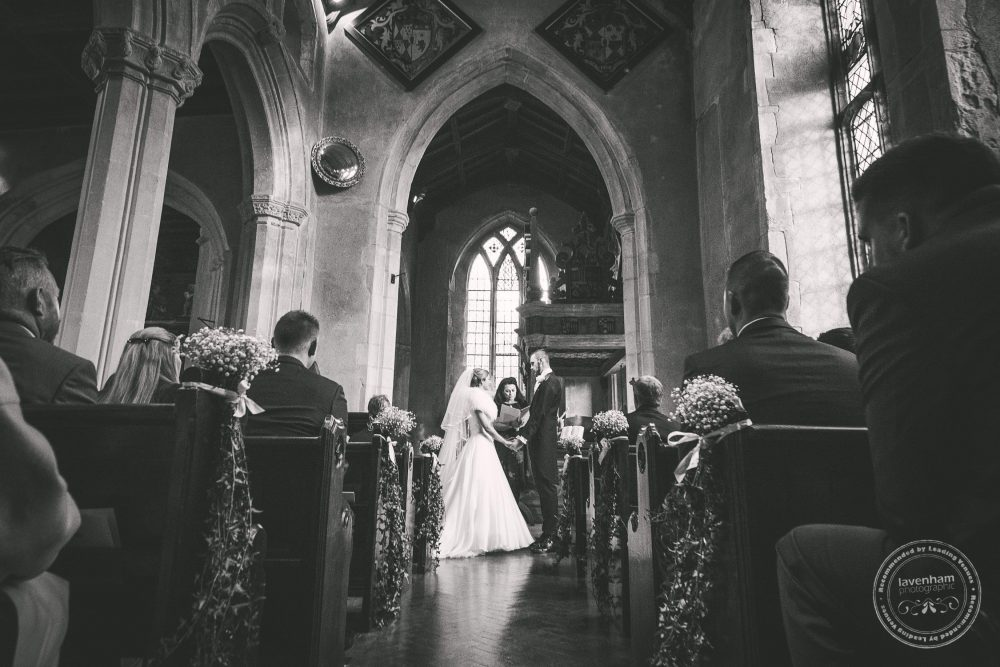 Wedding Ceremony, Blessing in the church at Hengrave Hall