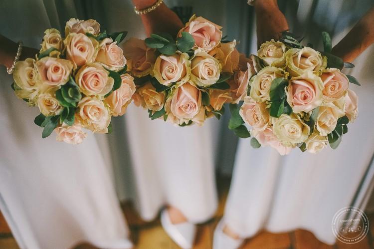 Bridesmaids flowers, vintage colours