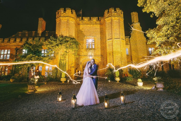 Light painting with sparklers, Leez Priory Wedding Photography, Essex