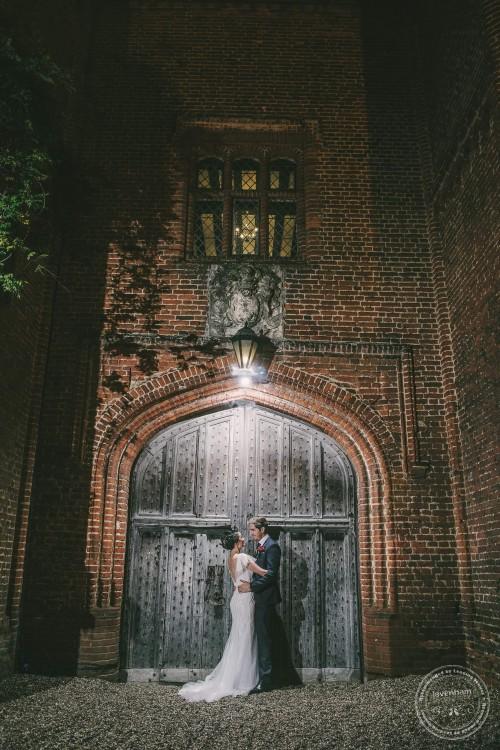 Night photo in front of doorway, Leez Priory, Essex