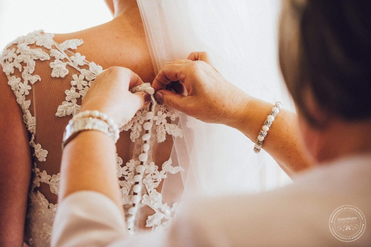Wedding dress being photographed