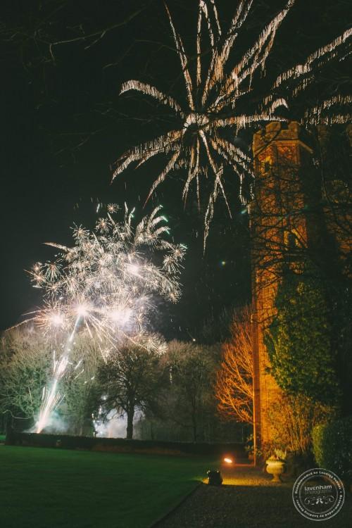 Fireworks Photo at Leez Priory Wedding