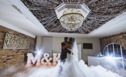 Bride and Groom First Dance Photographed at Friern Manor Wedding