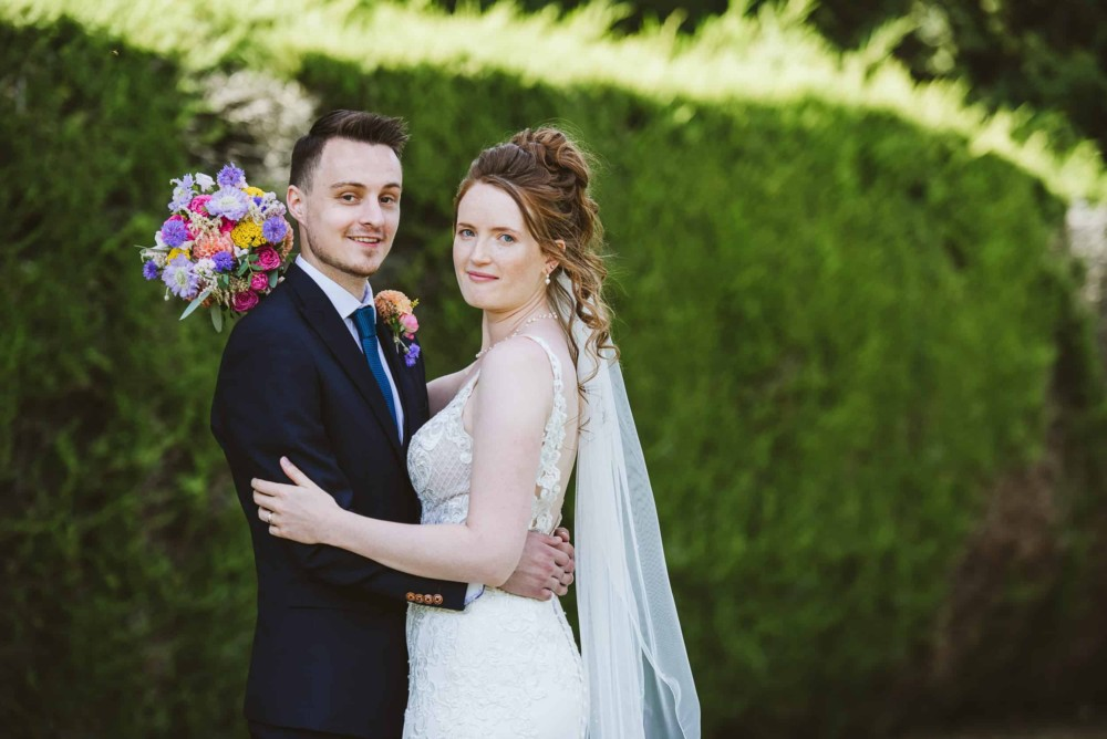 Wedding photographs at home in the garden