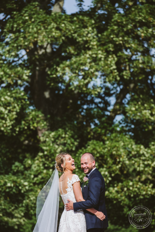 A Happy Bride and Groom at Leez Priory