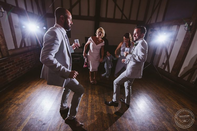 Photography of wedding guests dancing the night away at Channels Wedding