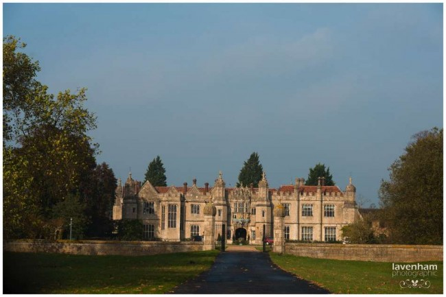 Hengrave Hall photographed from long driveway