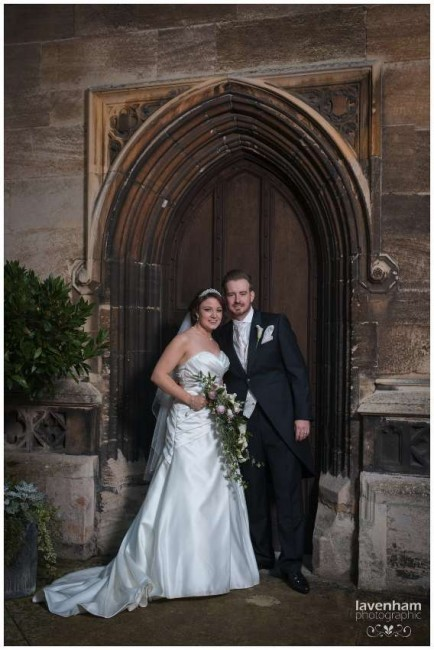 Beatufil stone doorway used in wedding photography at Hengrave Hall