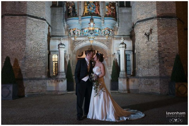 Night time photography at Hengrave Hall in Suffolk, using remote lighting