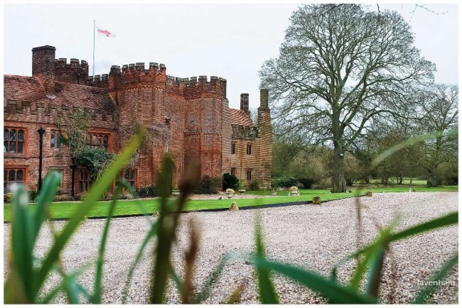 Opening photo of Leez Priory in the morning before the wedding