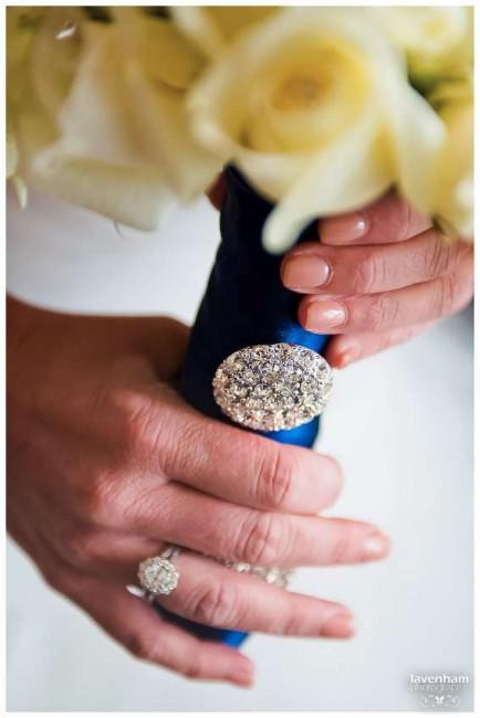 Detail photograph of the bride's bouquet