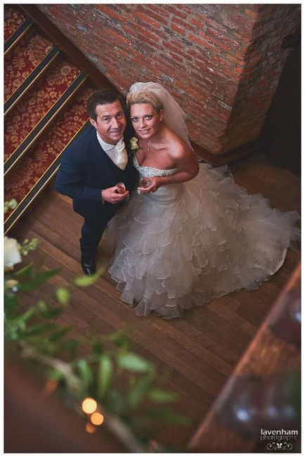 The Bride and Groom photographed from above