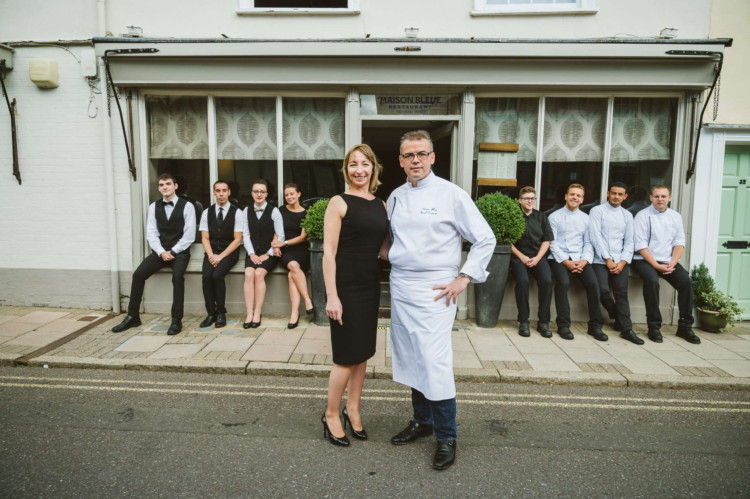 Corporate photography of Restaurant staff standing for a photo