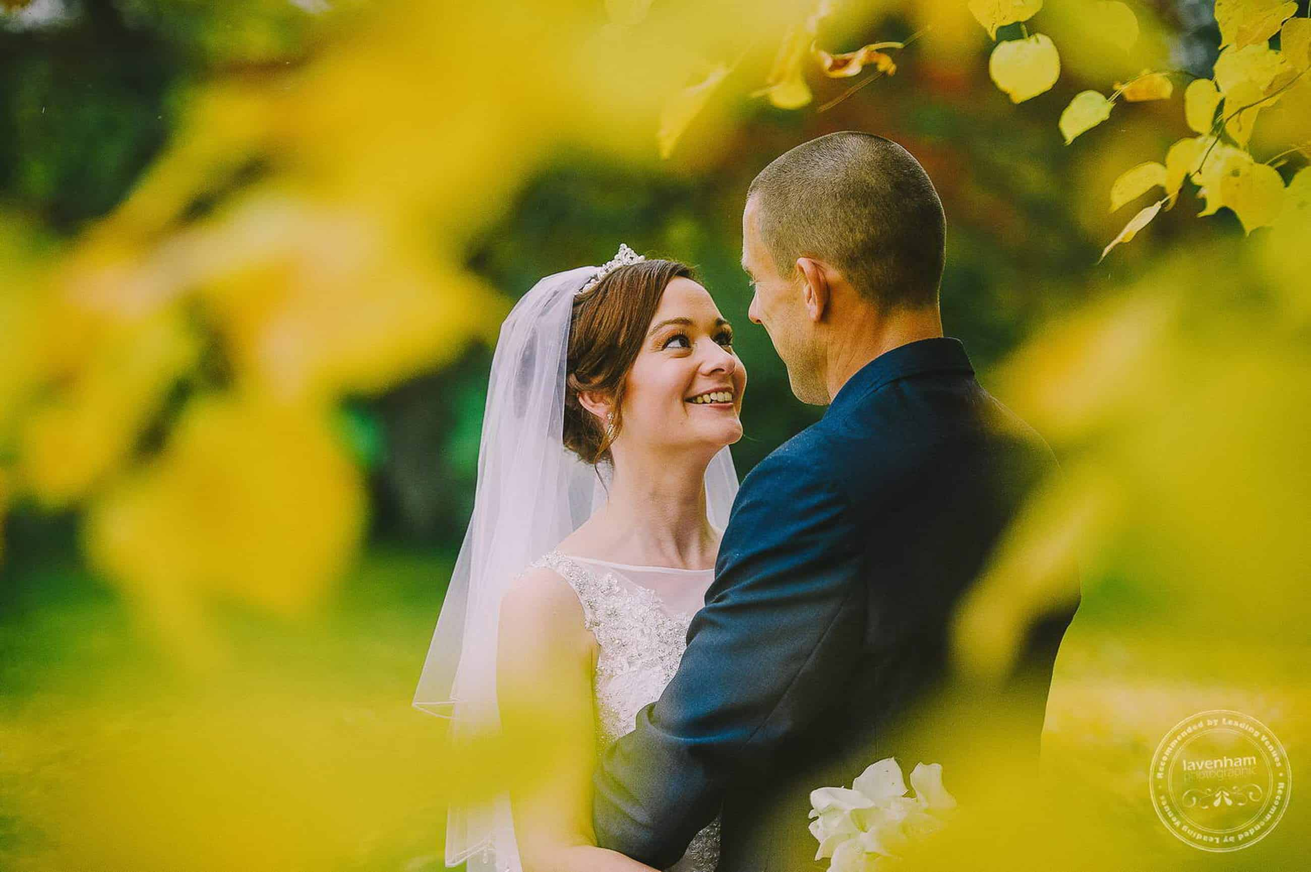 Autumn Leaves, Leez Priory. These yellow leaves appeared just in time for this wedding, the following week was back at Leez Priory, and the colour had already gone, which makes these wedding photos quite unique!