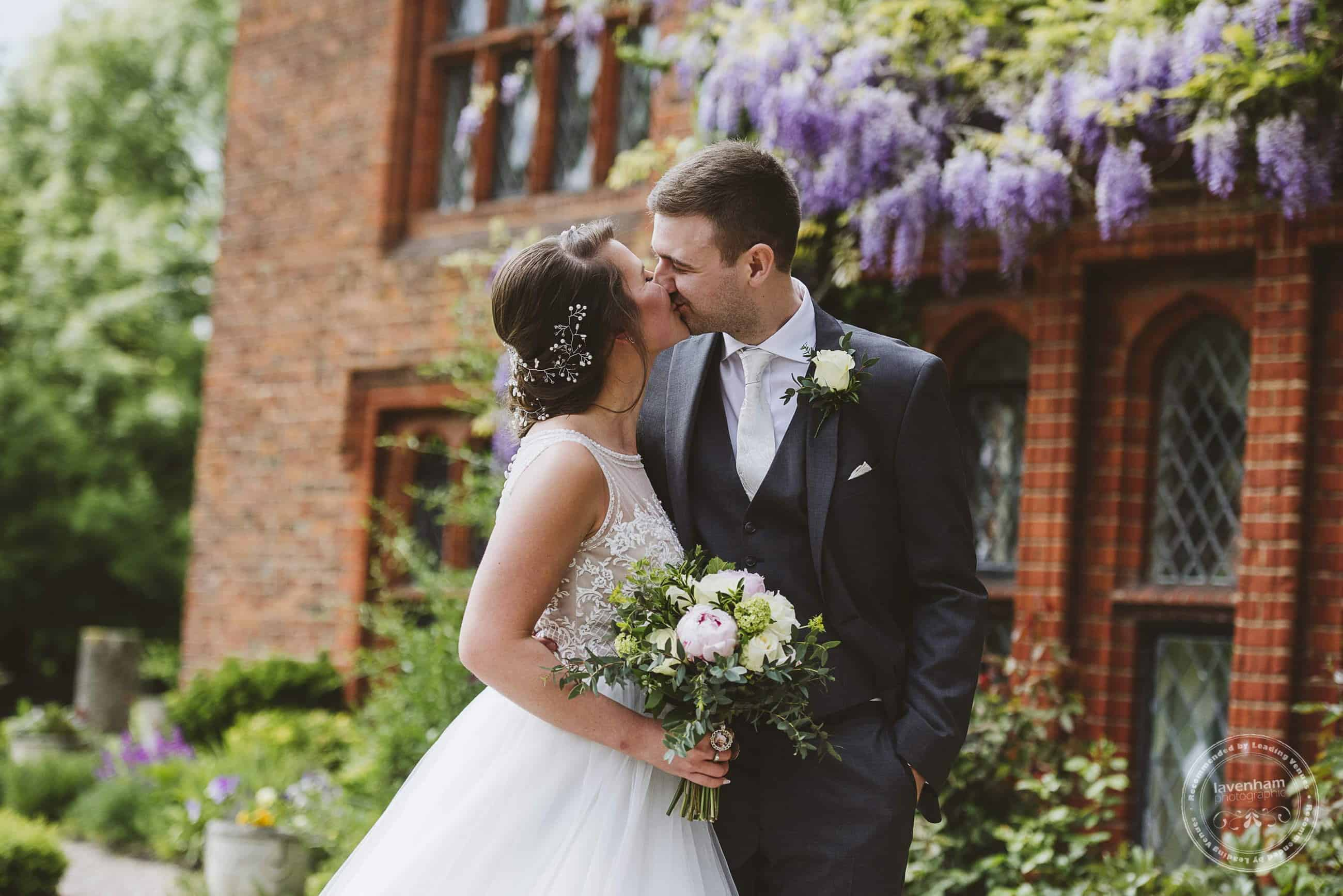 I love to include as much texture and detail as I can at a Leez Priory wedding - here the  wisteria and red brick really let you know which venue this is!