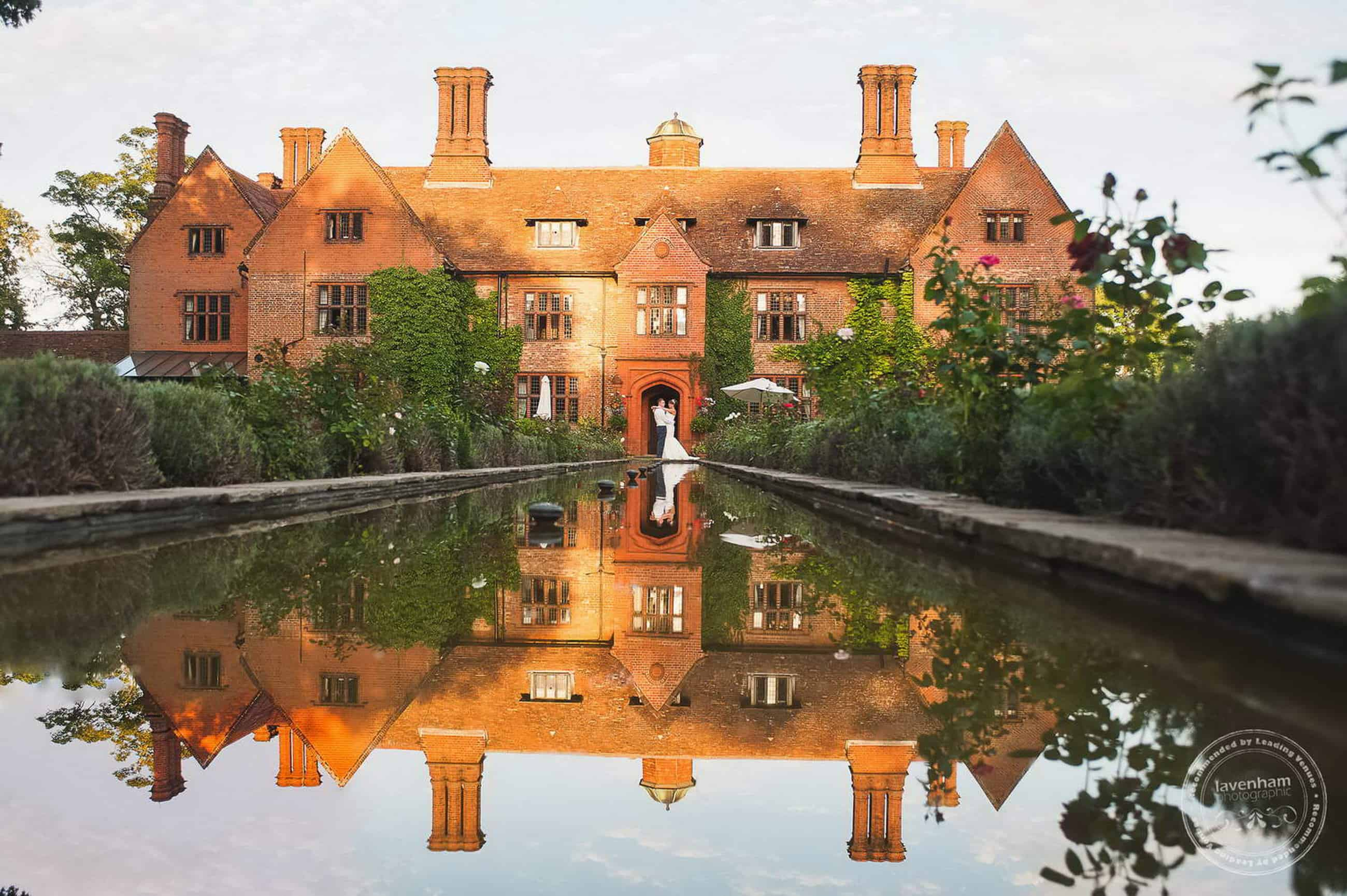 Striking reflection of Woodhall Manor. I love this low angle over the water at Woodhall Manor, getting as long as I can to show as much of the building in the reflection as I can.